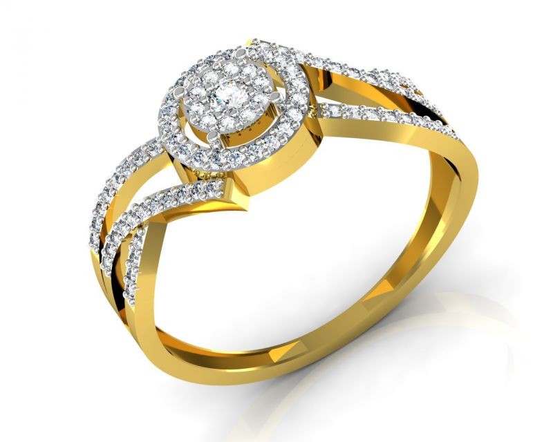 Buy Avsar Real Gold and Swarovski Stone Radhika Ring online