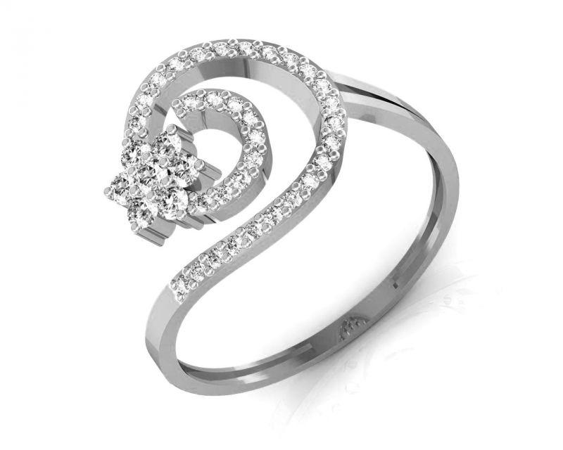Buy Avsar Real Gold And Swarovski Stone Arundhati Ring Bgr045wb online