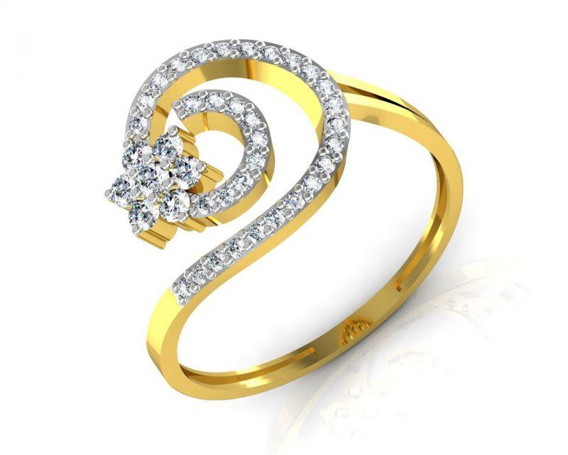 Buy Avsar Real Gold And Swarovski Stone Ashwini Ring Bgr045yb online