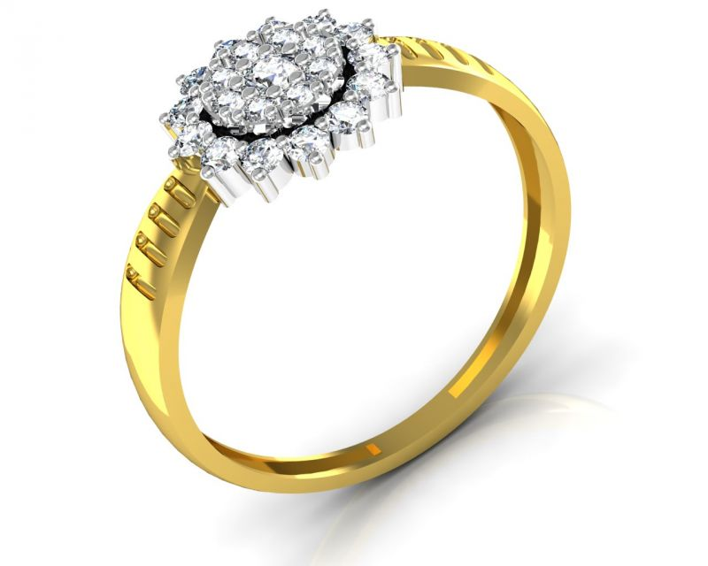 Buy Avsar Real Gold and Swarovski Stone Poonam Ring online