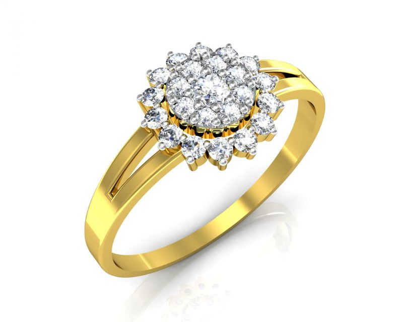 Buy Avsar Real Gold and Swarovski Stone Amruta Ring online