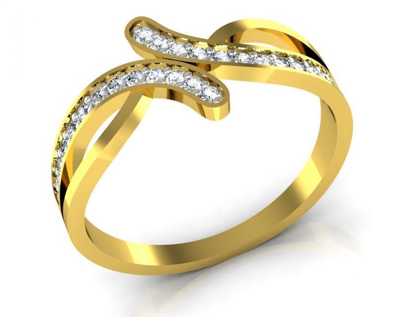 Buy Avsar Real Gold And Swarovski Stone Panjab Ring Bgr055yb online