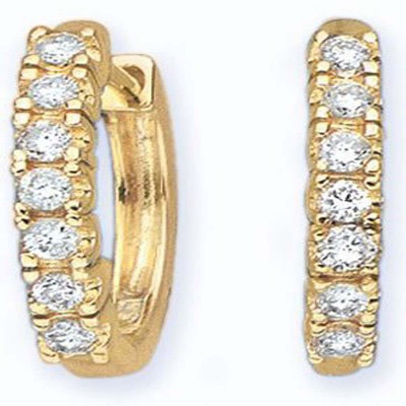 Buy Avsar Real Gold And Cubic Zirconia Chitra Earring ( Code - Boe019n ) online