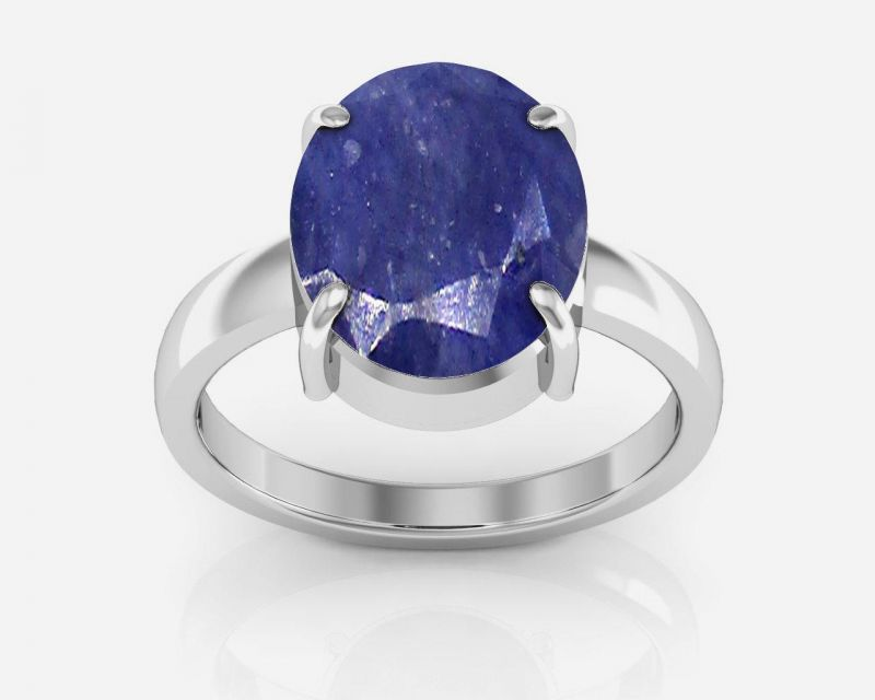 Buy Kiara Jewellery Certified Neelam 6.5 Cts Or 7.25 Ratti Blue Sapphire Ring online