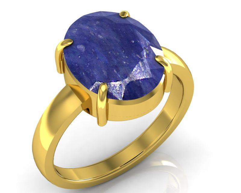 Buy Kiara Jewellery Certified Neelam 4.8 Cts Or 5.25 Ratti Blue Sapphire Ring online