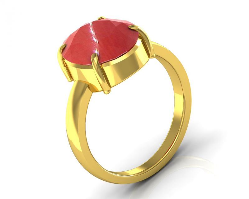 Buy Kiara Jewellery Certified Moonga 3.9 cts or 4.25 ratti Coral Moonga Ring online