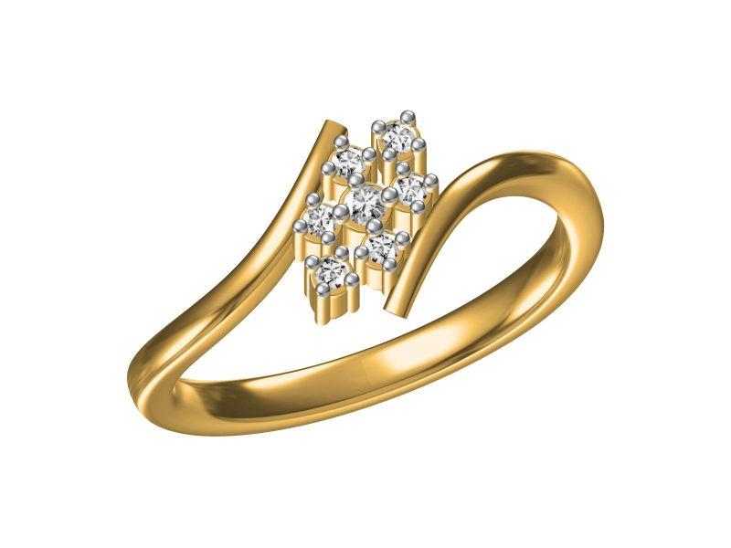 Buy Kiara Sterling Silver Sharvari Ring Ecr2230y online