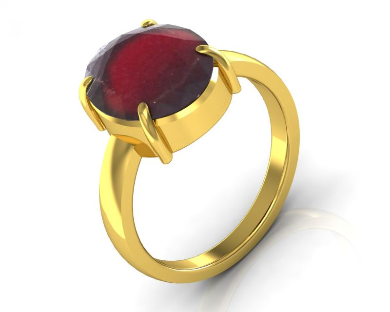Buy Kiara Jewellery Certified Hessonite 3.9 cts or 4.25 ratti Garnet Ring online