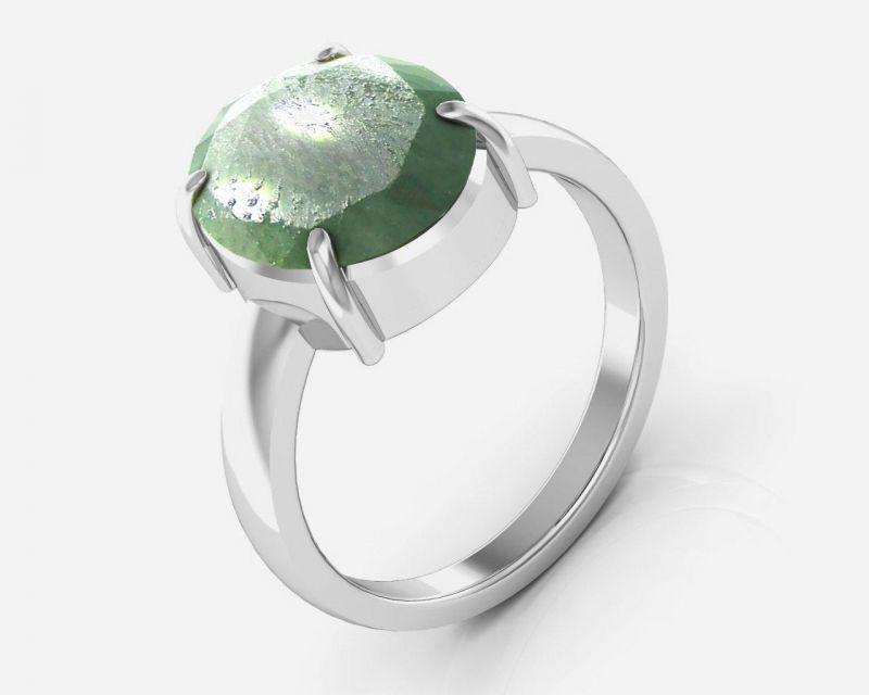 Buy Kiara Jewellery Certified Panna 6.5 Cts Or 7.25 Ratti Green Emerald Ring online