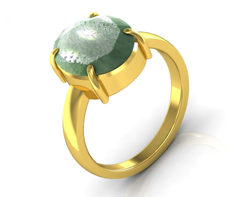 Buy Kiara Jewellery Certified Panna 3.9 cts or 4.25 ratti Green Emerald Ring online
