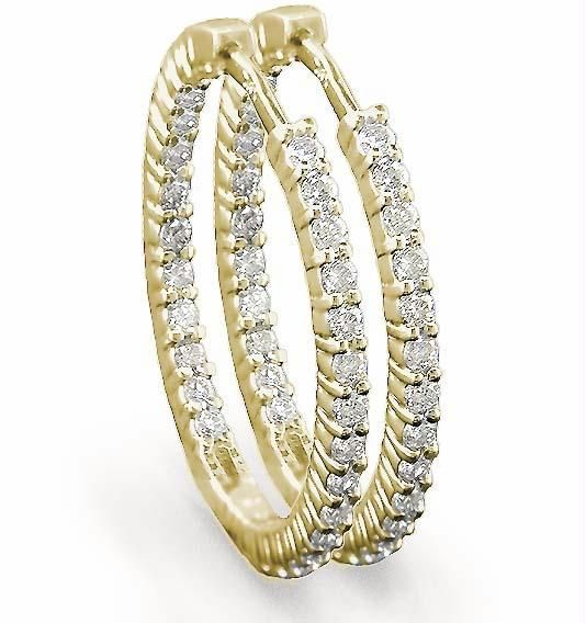 Buy Hoop Of Life 14k Gold Diamond Earrings online