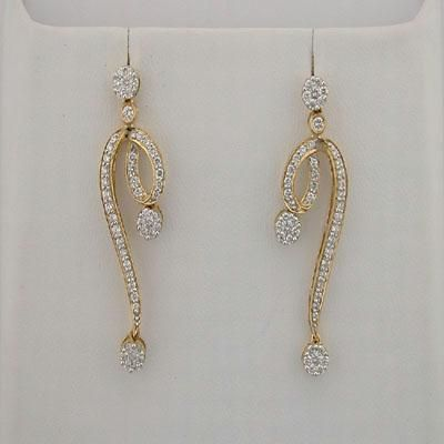 Buy 1.40 CT Diamond Yellow Gold Earrings online