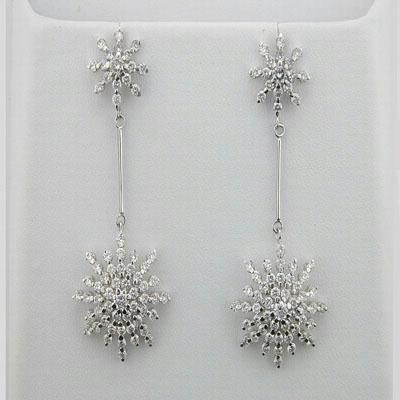 Buy 3.05 CT. Diamond White Gold Earrings online