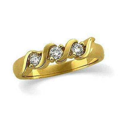 Buy Three Stone 14k Gold Diamond Ring online