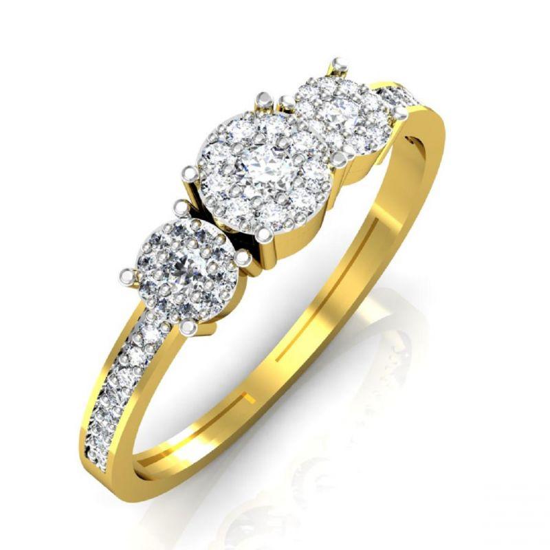 Buy Avsar Real Gold And Swarovski Stone Sonali Ring Intr035yb online