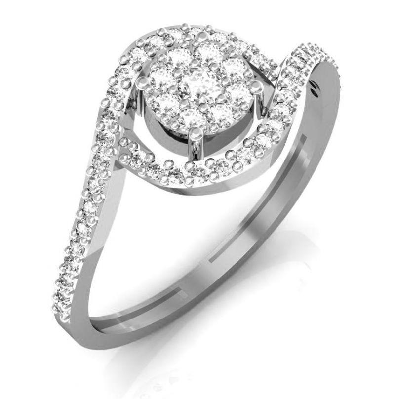 Buy Avsar Real Gold And Swarovski Stone Rajastan Ring Intr036wb online