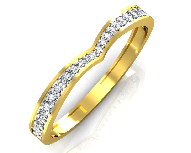 Buy Avsar Real Gold And Swarovski Stone Divya Ring Intr040yb online