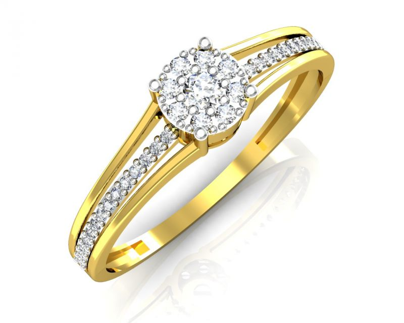 Buy Avsar Real Gold and Diamond Jammu Ring Online | Best Prices in ...