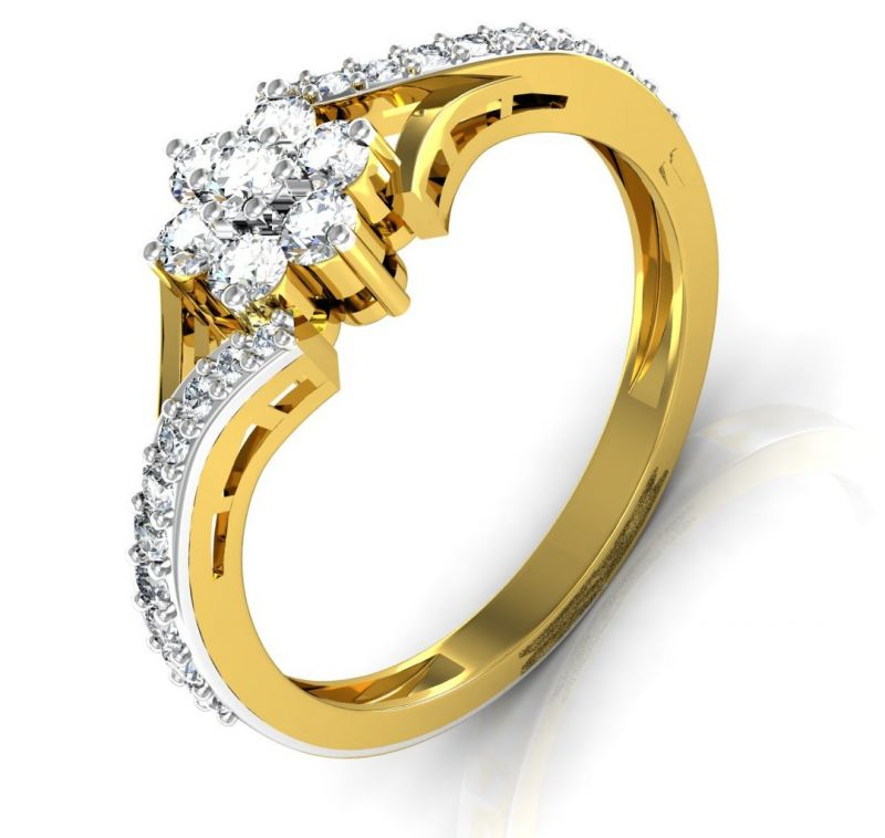 Buy Avsar  Avsar Real Gold and Diamond Kashmir Ring online