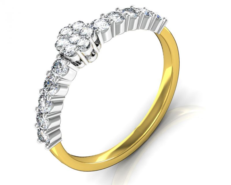 Buy Avsar Real Gold and Diamond Aakansha Ring online