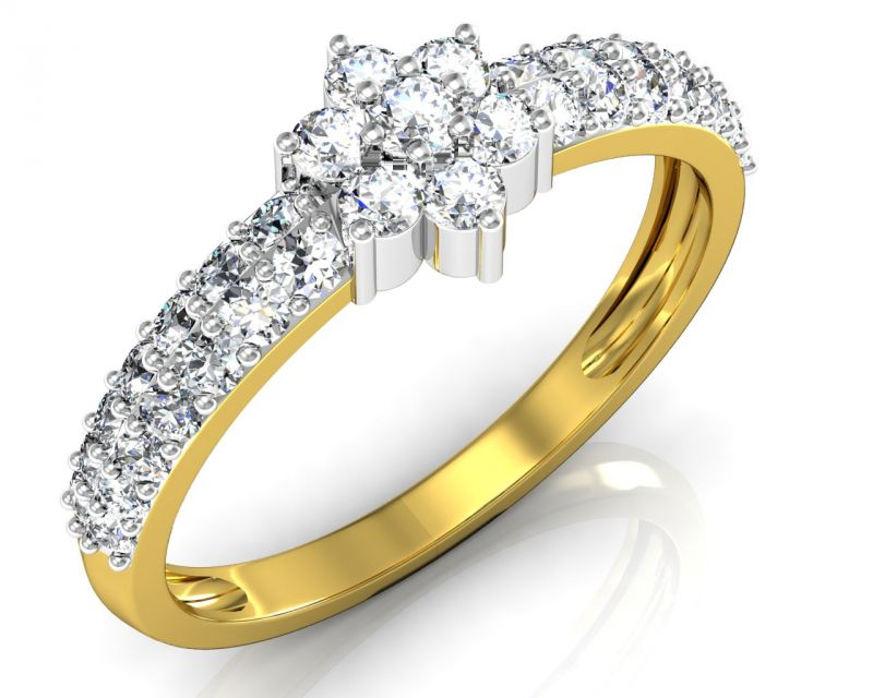 Buy Avsar Real Gold and Swarovski Stone Ranchi Ring online