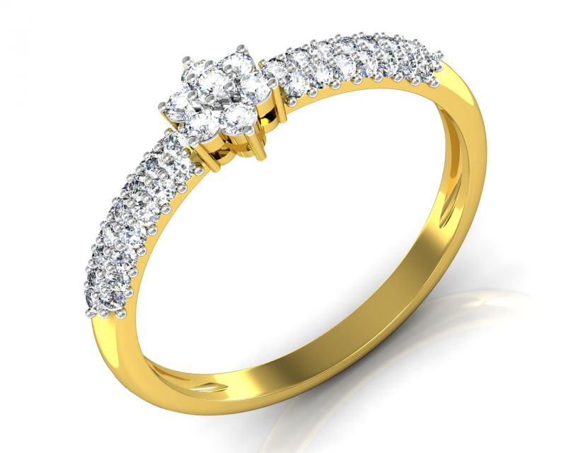 Buy Avsar Real Gold and Diamond Tamilnadu Ring online