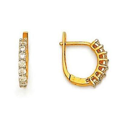 Buy Ag American Diamond BALI LOOK EARRING online