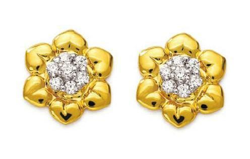 Buy Ag American Diamond FLOWER SHAPE EARRING online