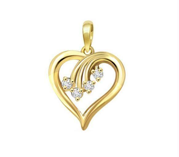 Buy kiara heart shape american diamond pendant online best prices buy kiara heart shape american diamond pendant online aloadofball Image collections