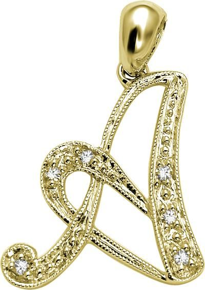 Buy Kiara 'a' Alphabet Design American Diamond Pendant online