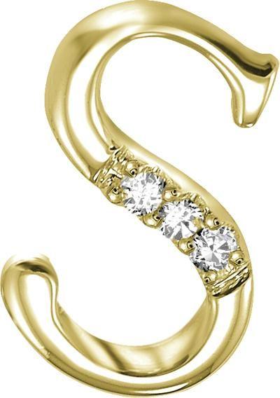 Buy Kiara 's' Alphabet Design American Diamond Pendant online