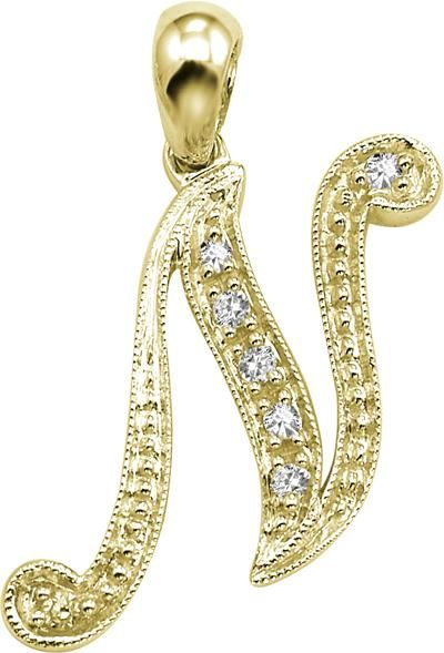 Buy Kiara N Alphabet Design American Diamond Pendant Online Best