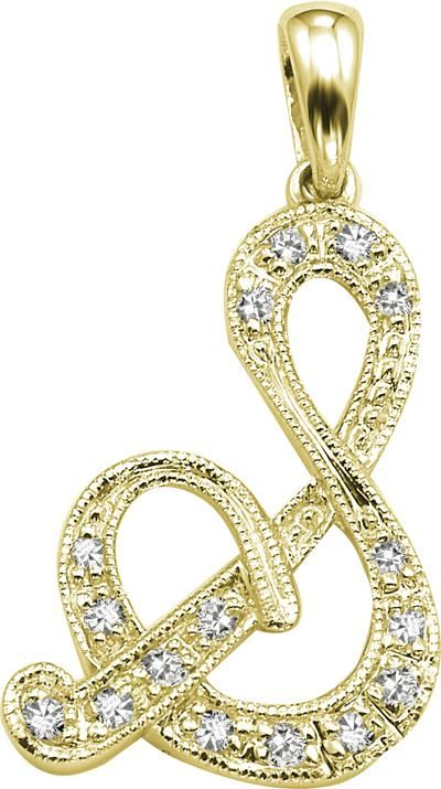 Buy KIARA 'S' ALPHABET DESIGN AMERICAN DIAMOND PENDANT online