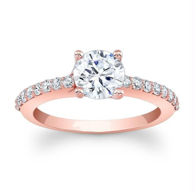 Kiara Pink Gold Plated Engagement Ring Online