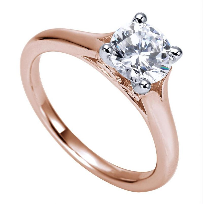 Buy Kiara Pink Gold Plated SOLITIARE Ring online