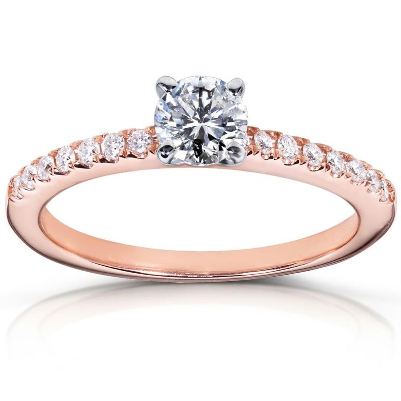 Buy Kiara Pink Gold Plated ENGAGEMENT Ring Online | Best Prices in ...