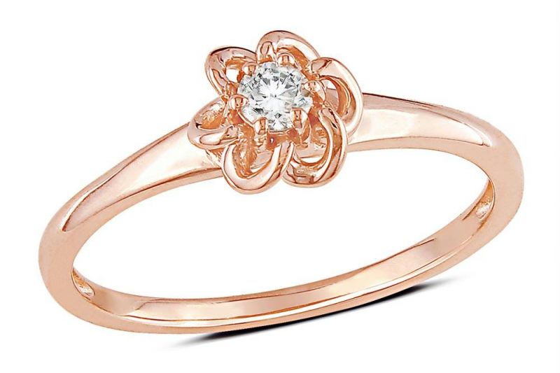 Buy Kiara Pink Gold Plated LOVELY Ring online