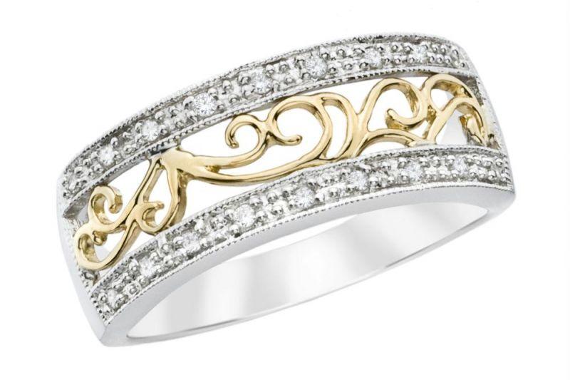 Filigree Wedding Band White Gold 64 Awesome American diamond rings