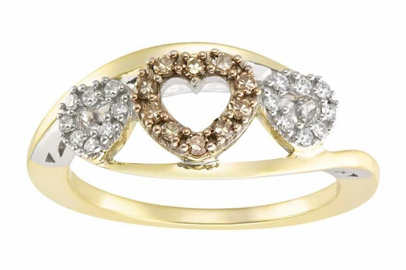 Buy Kiara YELLOW GOLD PLATED AD Ring online