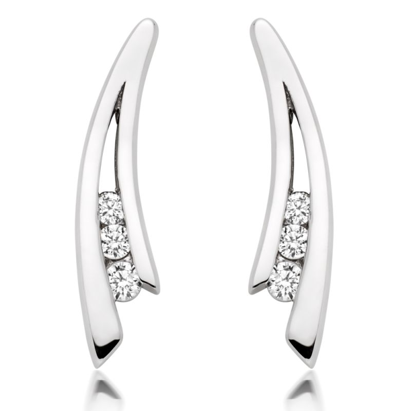 Buy Kiara Swarovski Elements White Gold Plated Earring Kie0278 online