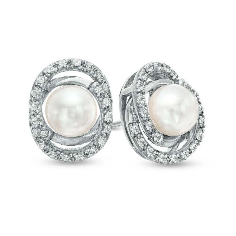 Buy Kiara Swarovski Elements White Gold Plated Earring Kie0322 online