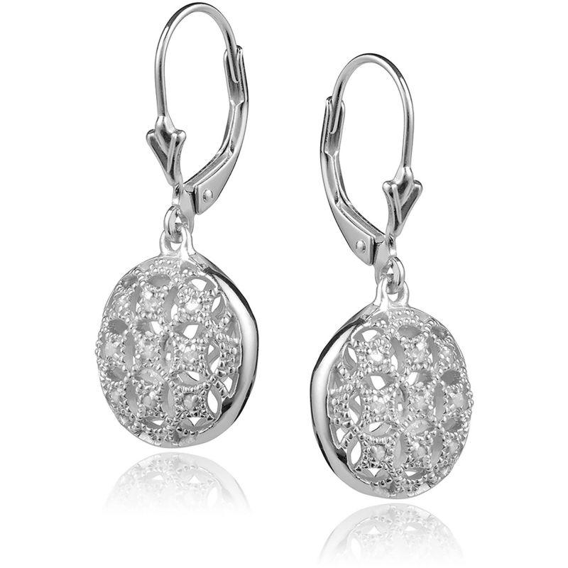 Buy Kiara Swarovski Signity Sterling Silver Poonam Earring online