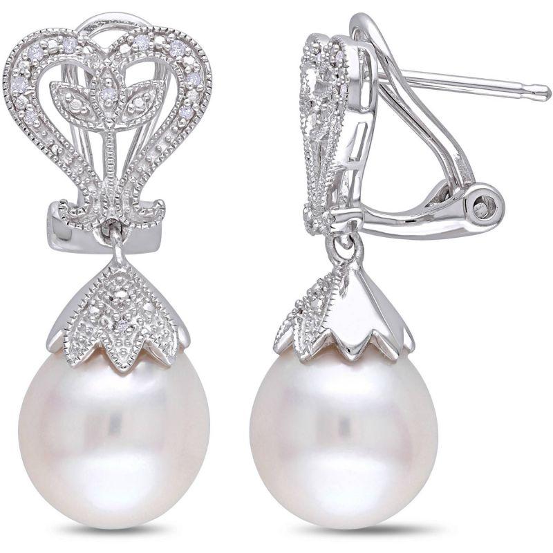 Buy Kiara Swarovski Signity Sterling Silver Sakshi Earring online