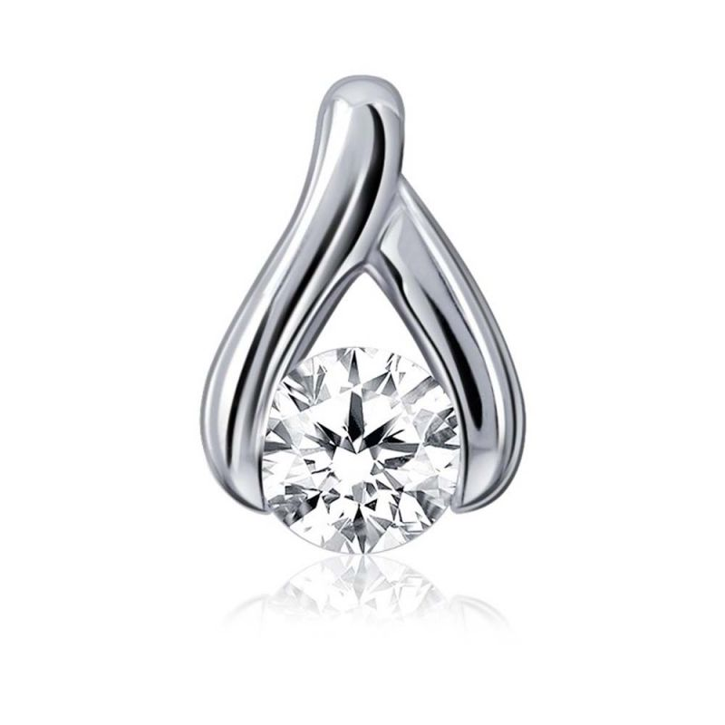 Buy Kiara Sterling Silver Pendant made with Cubic Zirconia Stone online