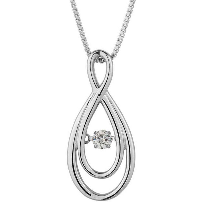 Buy Kiara Swarovski Signity Sterling Silver Pooja Pendant Kip0468 online