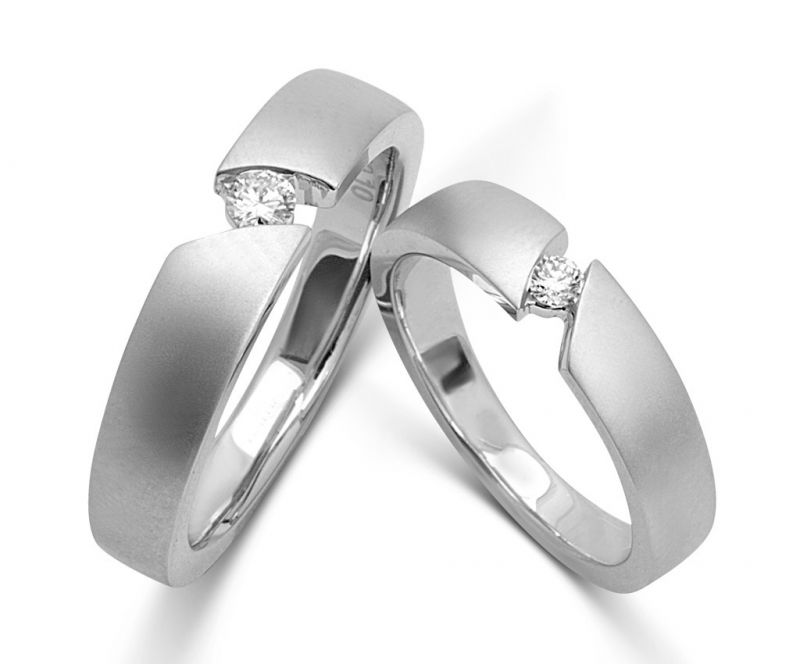 Buy Kiara Jewellery Sterling Silver Swarovski Zirconia Couple Ring online