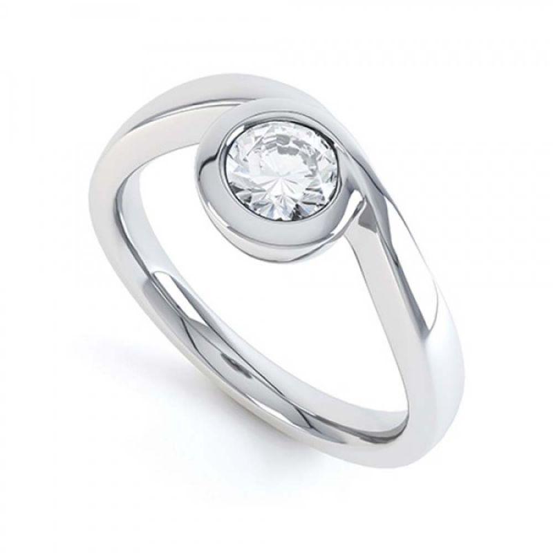 Buy Kiara Sterling Silver Ring Made With Swarovski Zirconia Kir0459 online