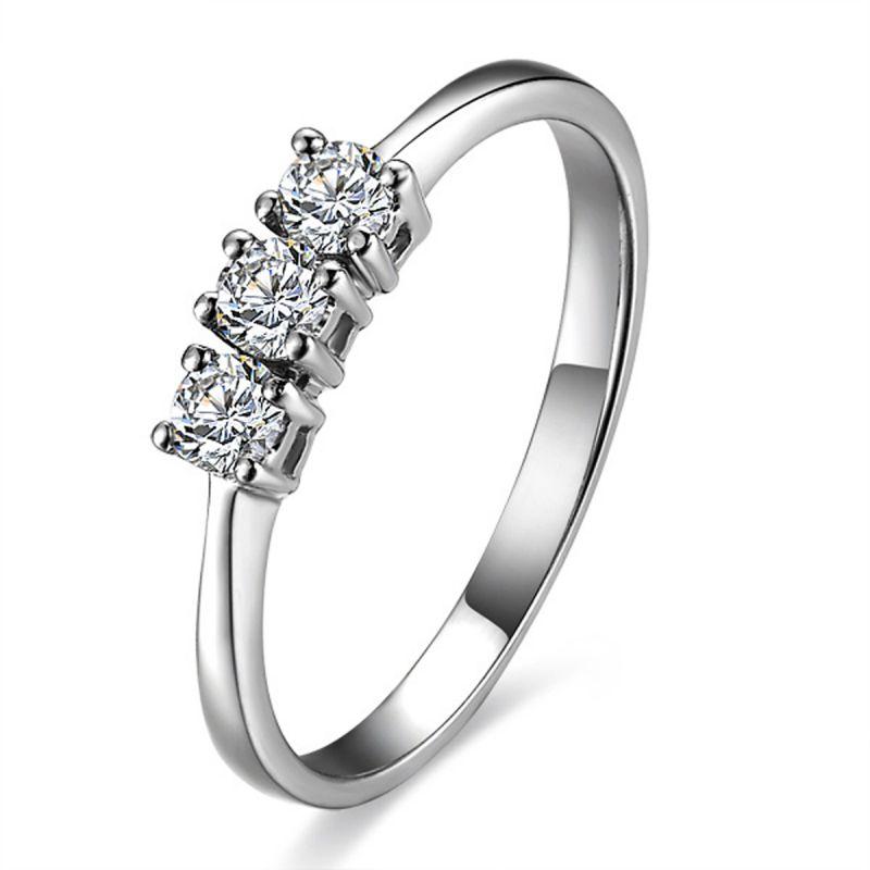 Buy Kiara Sterling Silver Ring Made With Swarovski Zirconia Kir0502 online