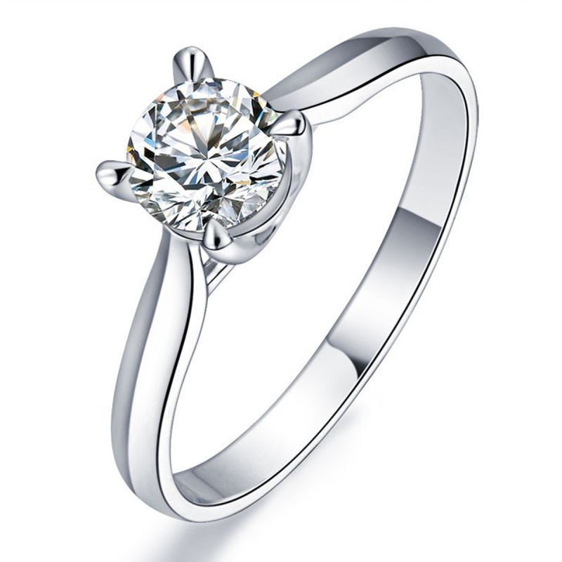 Buy Kiara Sterling Silver Ring Made With Swarovski Zirconia Kir0518 online