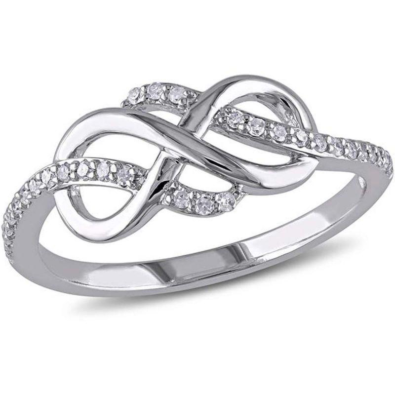 Buy Kiara Swarovski Signity Sterling Silver Aditi Ring online